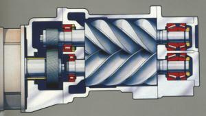 Compressores de parafuso rotativo injetado por óleo